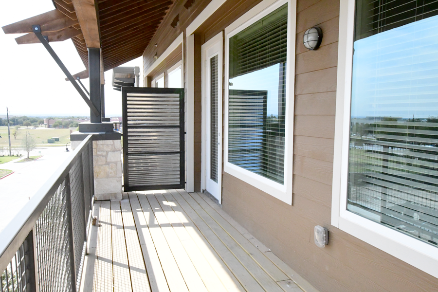 Large balconies and patios available