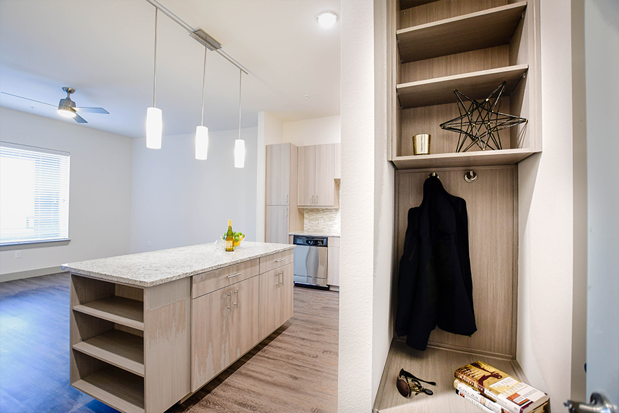 Built-in mudrooms for additional storage