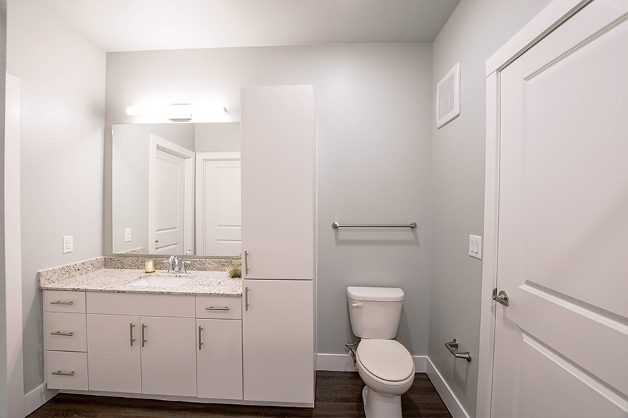 Additional storage in bathrooms