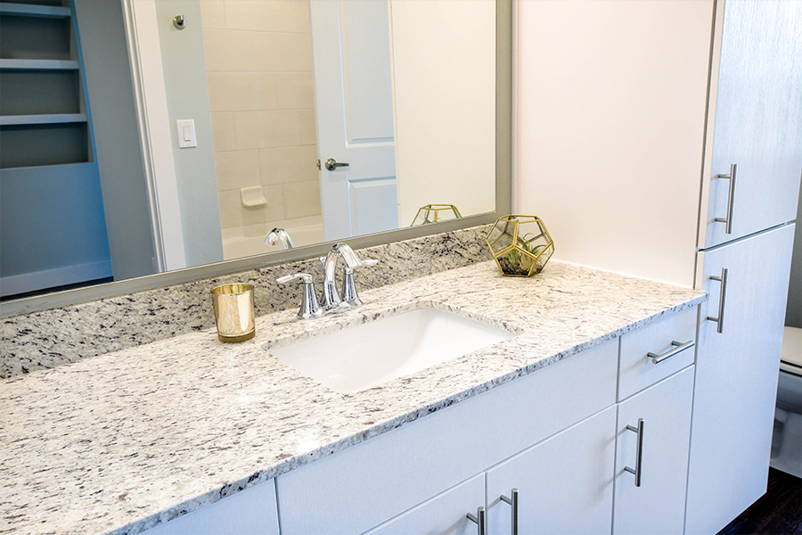 Granite throughout and spacious countertops